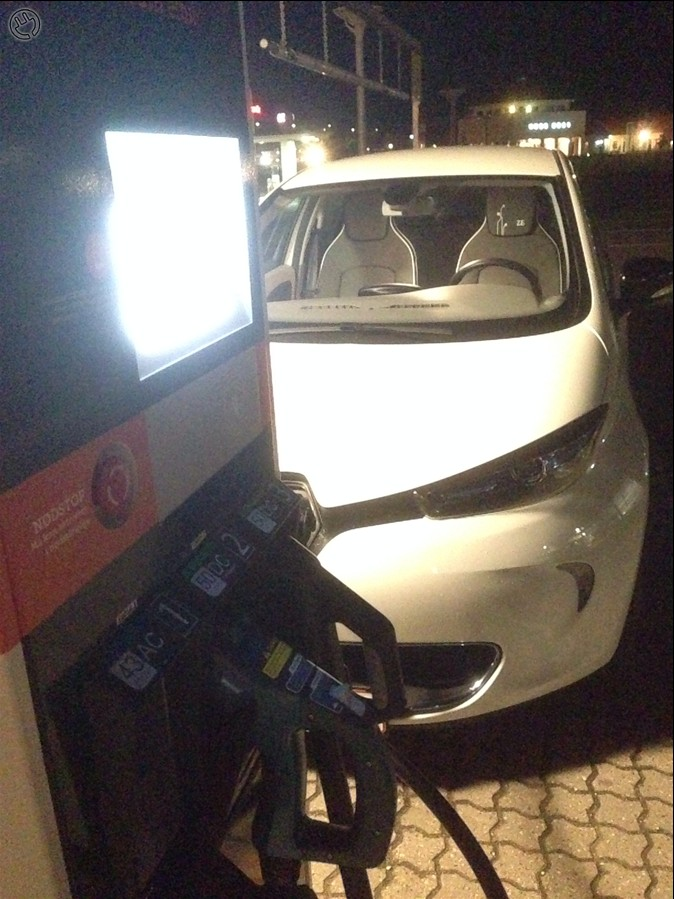 Renault Zoe lader 43 kW AC.